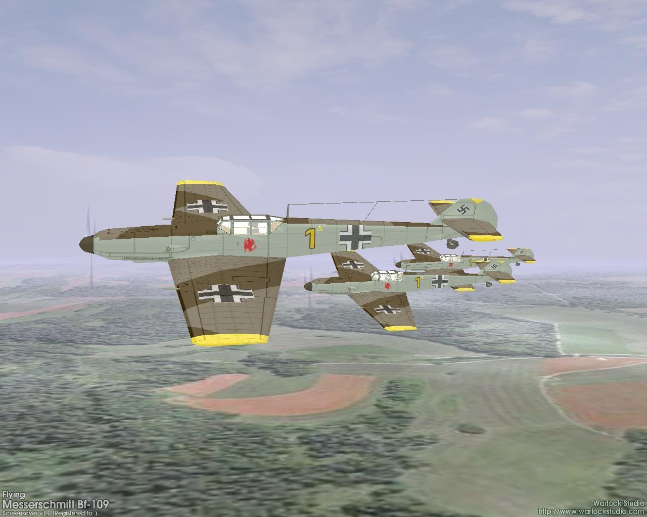 flying messerschmitt bf109 3d > download screensaverwarlock studio