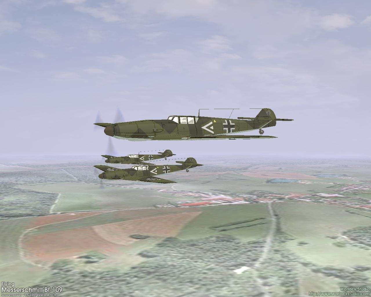 3D Flying Messerschmitt Bf109