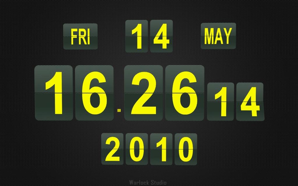 Calendar And Clock Wallpaper Free Download : Flip clock d gt download screensaver by warlock studio