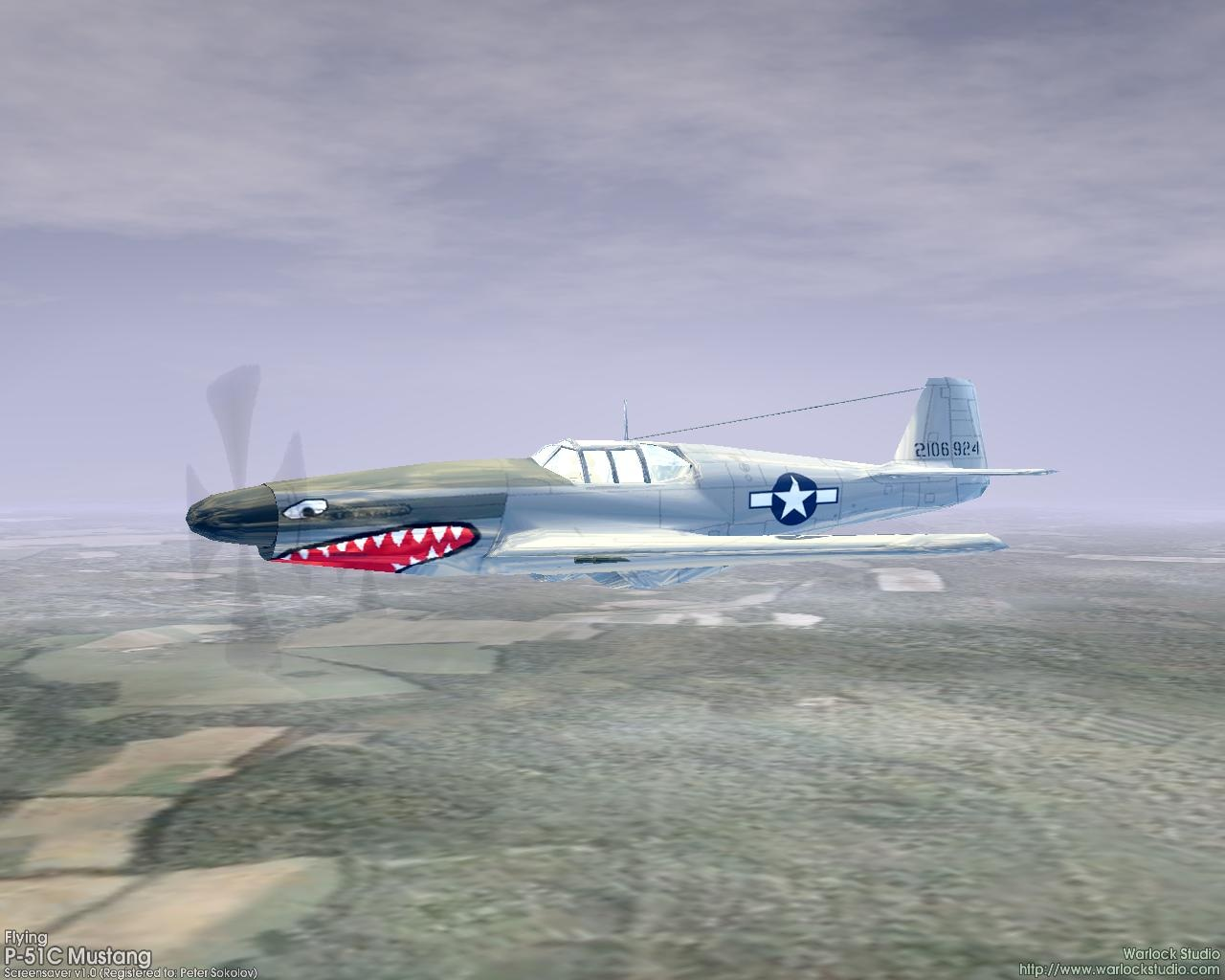 Windows 7 3D Flying P-51C Mustang Screensaver 1.3 full